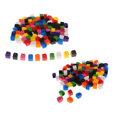 200pcs Learning Resources Math Snap Cubes Blocks Counting Building 4Colors
