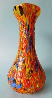 Extraordinary Art Deco End of day Mottled Tango Glass Bohemian Vase 1930s