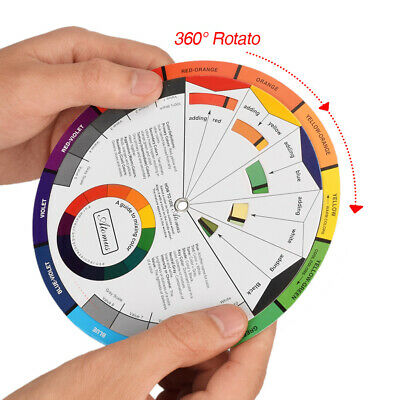 Paint Color Colour Wheel Mixing Learning Guide for Tattoo Makeup Painting Supply