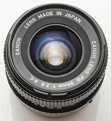 Canon FD 28mm 28 mm 1:2.8 2.8 S.C. - A-1 AT-1 T70 AE-1 F-1