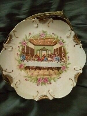 Vintage 18K Gold Trimmed Last Supper Wall / Collector's Plate
