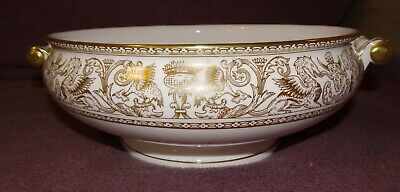 Wedgwood Florentine Gold Covered Vegetable Bowl Base Only Mint Condition