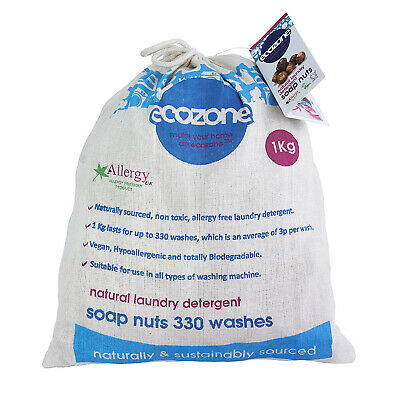 Ecozone Soap Nuts Indian Wash Natural Laundry Detergent - 1kg