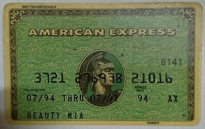 Collectable old Credit Cards American Express Expired in 1997 Beauty Mia