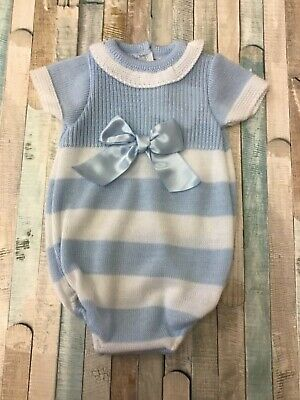 Baby Boys Knitted Spanish Style Romper Suit NB, 3-6 Months