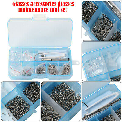 Practical Eyeglasses Screws Sets Nuts Nose Pad Optical Repair Tool Parts Kit