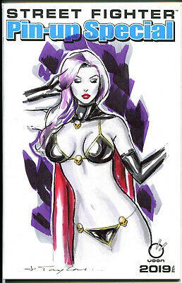 Lady Death Original Art Sketch Cover Variant Comic Book Blank Pinup Sexy Woman
