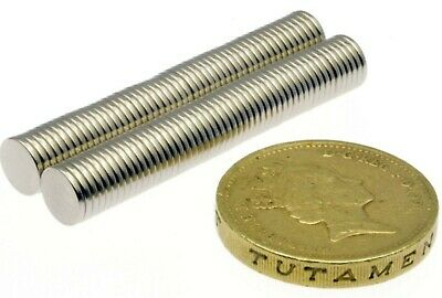 """Super Strong Neodymium Magnets (1/4"""" x 1/32"""") N42 Thin Small Powerful Disc 6mm"""
