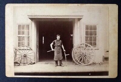 ANTIQUE Cabinet Card WHEELWRIGHT Excelsior Photo Co Bowery NY