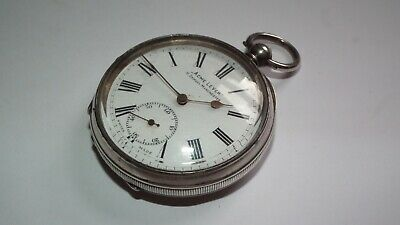 Antique 1911 Solid Sterling Silver Acme Lever H.Samuel Pocket Watch Working