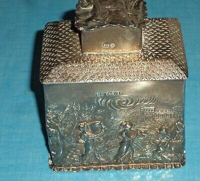 1899. Silver Tea Caddy. A gift of Alfonso of Spain, future king Alfonso XIII.