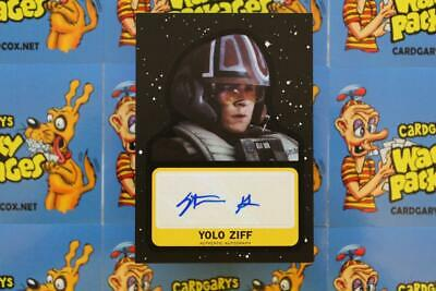 Journey To Star Wars The Rise Of Skywalker Autograph Stefan Grube Yolo Ziff 61/9