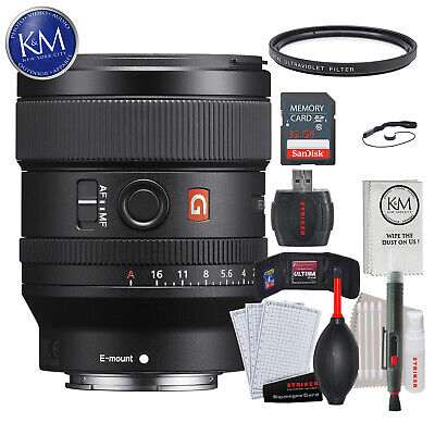 Sony FE 24mm f/1.4 GM Lens w/ 32GB Memory and Lens Bundle
