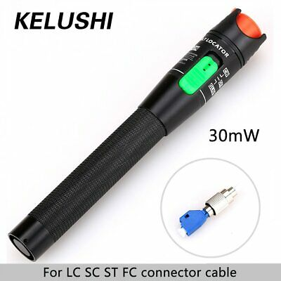 30MW Metal Fiber Optic Visual Fault Locator Red Laser Cable Tester Test Tool