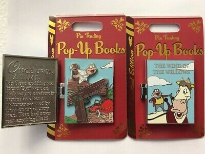 Disney Parks 2019 Wind in The Willows Mr. Toad Pop Up Book LE Pin of the Month