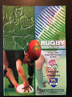 9553 - Rugby World Cup 1995 RWC - England v Argentina Programme 27/05/1995