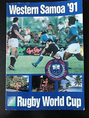 9524 - Rugby World Cup 1991 RWC Western Samoa Tour Guide
