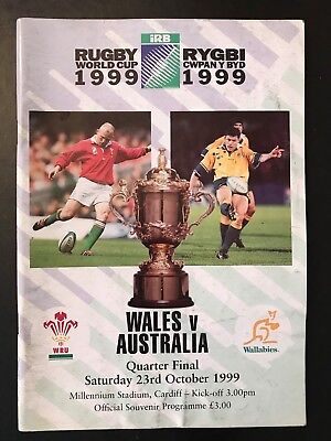 9628 - Rugby World Cup 1999 RWC - Wales v Australia Programme 23/10/1999