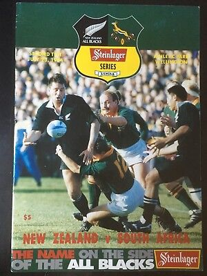 3227 New Zealand v SOUTH AFRICA 1994 Rugby Programme 23rd July All Blacks 23/07