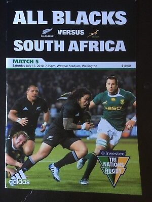 3243 New Zealand v SOUTH AFRICA 2010 Rugby Programme 17th July All Blacks 17/07