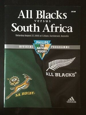 3238 New Zealand v SOUTH AFRICA 2005 Rugby Programme 27th Aug All Blacks 27/08