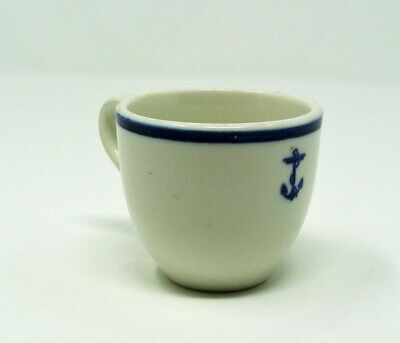 Vintage Us Navy Usn Blue Fouled Anchor Demitasse Cup**Wow!!