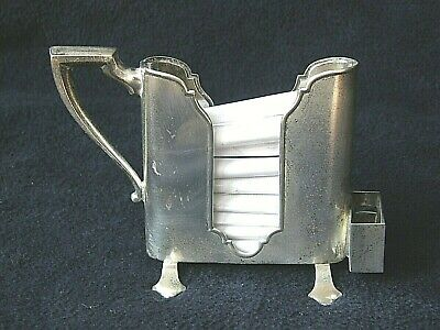 Sterling Silver Cigarette Server Webster Co Signed Unusual-Antique