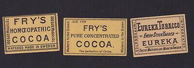 AE Old  Matchbox label  Sweden XXXXX24 Cocoa
