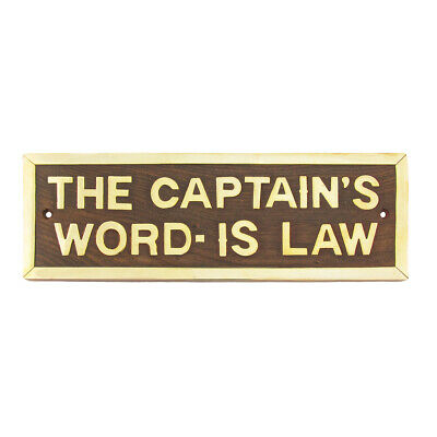 Maritime Ships Sign Plaque CAPTAINS WORD IS LAW Nautical pub/bar/home wall decor