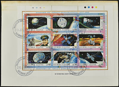 Sierra Leone 1989 History Of Space Exploration Sheetlet FDC #C54544