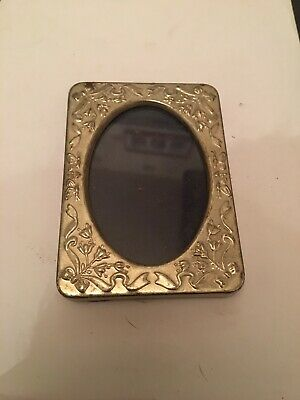 Vintage Small Metal Picture Frame Silver plated Antique Small Frame
