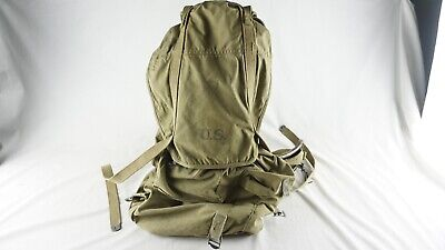 Vintage WW2 1943 US Army Military Field Backpack Rucksack Canvas Bag With Frame