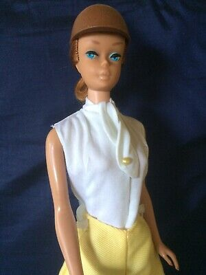 Vintage Barbie Swirl Ponytail Wearing Riding In The Park