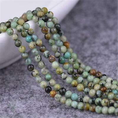 1pcs 4mm African Turquoise Loose Bead 15.5inches Top Natural Jewelry Wholesale