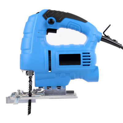 710W Electric Driller Woodworking Table Saw Jigsaw Curve Cutting Tool+ 2 Blades