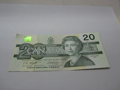 1991 - Canada $20 bill - Canadian twenty dollar note - EWU7306500