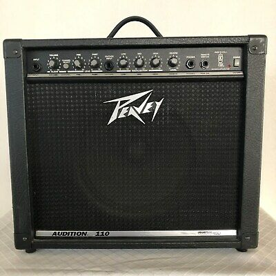 Peavey Audition 110 Guitar Amplifier Solid State With Trans Tube Amp Made In Usa