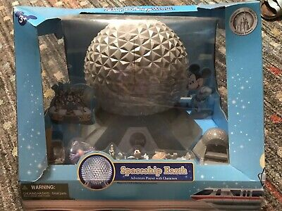 NEW Walt Disney World SPACESHIP EARTH Playset with Characters EPCOT BALL Figment