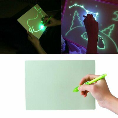 PVC Draw With Light In Darkness Child Sketchpad Toys Luminous Drawing Board CE