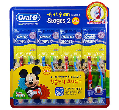 Oral-B Stages 2 Mickey Mouse Kids Children Toothbrush(8EA) Health Dental Clean