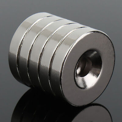 50Pcs N50 Strong 20mm x 4mm Round Ring Magnets Hole 5mm Rare Earth N50