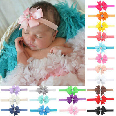 10PCs/Set Kid Girl Baby Toddler Infant Flower Headband Hair Bow Band Acces zxc