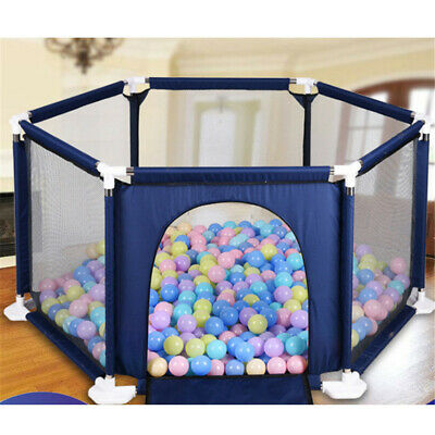 Baby Playpen by Millhouse 6 Sides Round Zipper Door Play Pen for Toddlers New