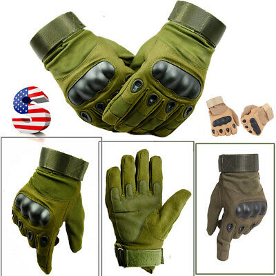 Full Finger Army Military Gloves Hard Knuckle Paintball Airsoft Shoot Combat US