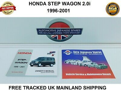 HONDA STEP WAGON 2.0i 1996-2001 MANUAL / HANDBOOK & SERVICE RECORD BOOKLET