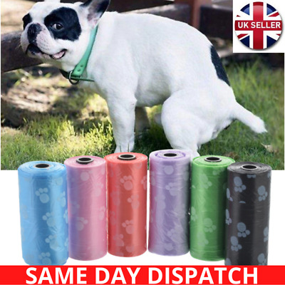 NEW DOG POO BAG DOGGY BAGS - Pet Cat Poop Pooper Scooper DEGRADABLE Waste Bag UK