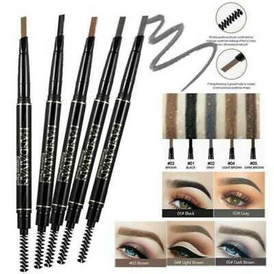 HANDAIYAN 5 Color Double Ended Eyebrow Pencil Waterproof Long Lasting Triangle