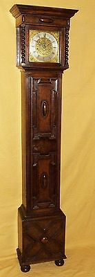 Antique 8 Day Miniature Grandfather / Grandmother Clock : Weight Driven Movement