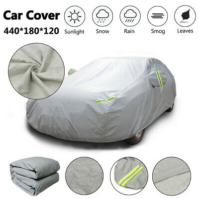 Heavy Duty M 2 Layer Full Car Cover Waterproof Breathable UV Protection
