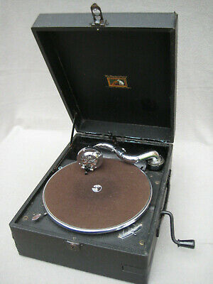 Picnic Wind- up Gramophone His Masters Voice -